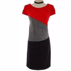 Size 12 NWT▪️COLORBLOCK PONTE KNIT SHEATH Dress